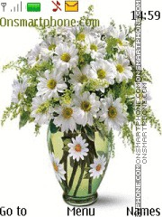 Chamomile flowers in a vase theme screenshot
