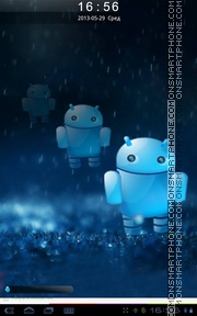 3D Android theme screenshot