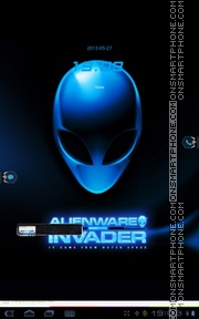Blue Alienware theme screenshot