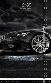 Black BMW 07 theme screenshot