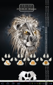 Metal Lion theme screenshot