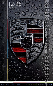 Black Porsche 02 theme screenshot