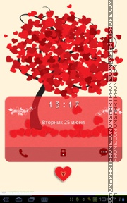Love Heart Spring theme screenshot