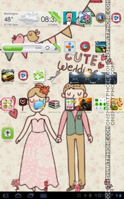 Cute Wedding tema screenshot