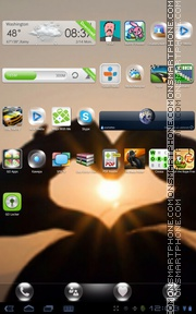 Heart Glow tema screenshot