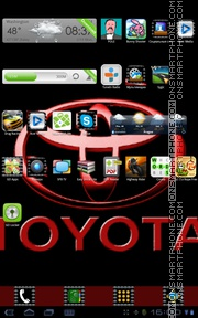 Toyota 03 theme screenshot