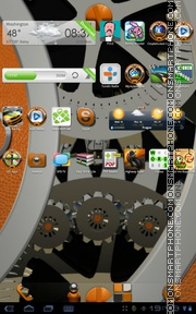 Orange Leather tema screenshot
