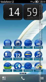 Feathers Touch HD theme screenshot