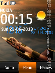 F16 Live Digital tema screenshot