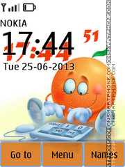 Funny Orange 01 tema screenshot