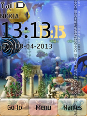 Animated Fish Tank 02 theme screenshot