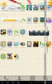 Sketch Theme 01 tema screenshot