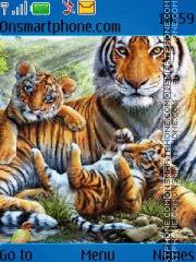 Tiger and cubs theme screenshot
