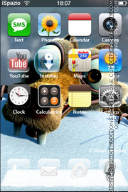Ice Age 07 theme screenshot