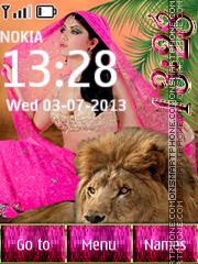Girl & Lion es el tema de pantalla