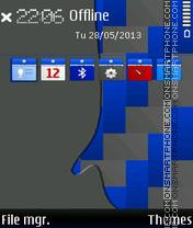 Embossed Blue. tema screenshot