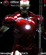 Iron man theme screenshot