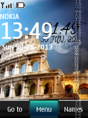 Colosseum Digital Clock theme screenshot