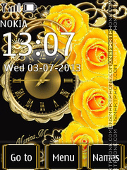 Yellow Roses theme screenshot