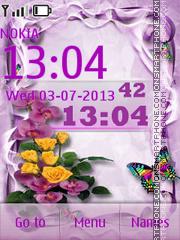 Purple Bouquet theme screenshot