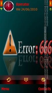 Error theme screenshot