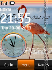 Flamingo dual clock theme screenshot
