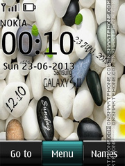 S3 Pebbles Galaxy Digital Theme-Screenshot