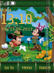 Summer Mickey Mouse tema screenshot