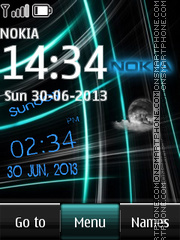 Nokia Abstract Clock theme screenshot