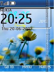 Yellow Light Flower theme screenshot
