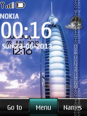 Dubai Live Digital theme screenshot