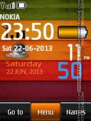 Battery Live Digital Clock theme screenshot