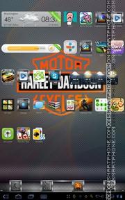 Скриншот темы Harley-Davidson Carbon