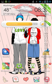 Is Love 01 theme screenshot