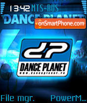Dance Planet theme screenshot