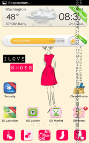 Hotpink Shoes tema screenshot