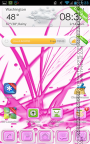 Pink Chill theme screenshot