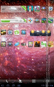 Galaxy Deep theme screenshot