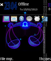 Libra Neon tema screenshot