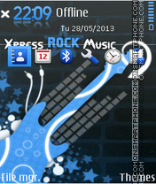Express Rock Music theme screenshot