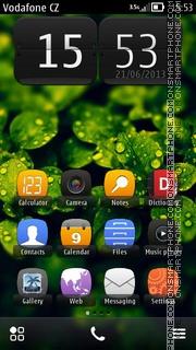 Retro Rain 01 theme screenshot