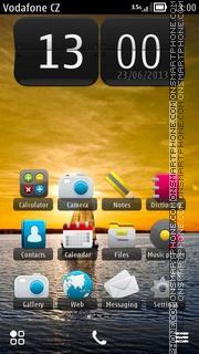 Boat In Sunset theme screenshot