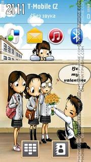 School Romantic es el tema de pantalla