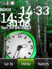 Скриншот темы Forest Dual Clock