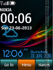 Xperia Live Digital theme screenshot