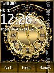Golden clock theme screenshot