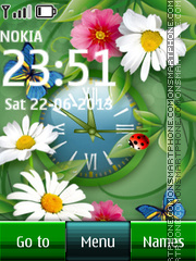 Green Nature Clock theme screenshot