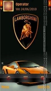 Lamborghini Car es el tema de pantalla