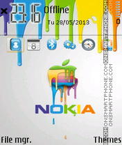 Nokia Paint Mac theme screenshot