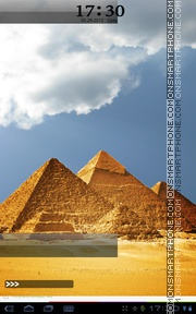 Pyramids of Giza theme screenshot